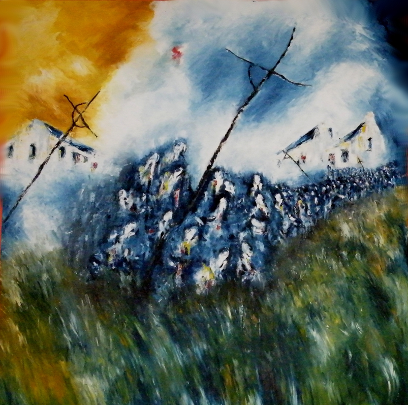 Lough Derg - Procession - Oil on Linen - 152cmX152cm