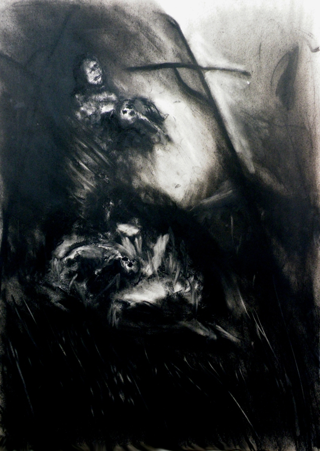 Pilgrims - Grief Conte on Card 63 X 89 cm